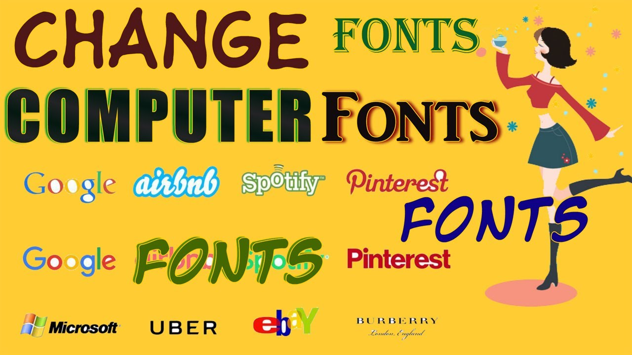 How to change fonts in computer-replace new fonts in laptop-google fonts