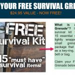 Free Survival Grenade a compact survival kit