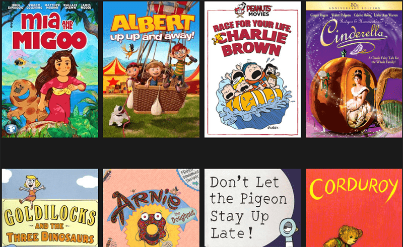 Stream thousands of films for free and wide collection of free movies and shows for Kids