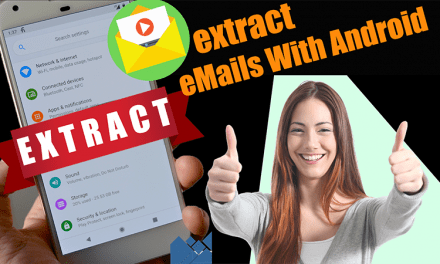 Extract Emails on Android phone with apps