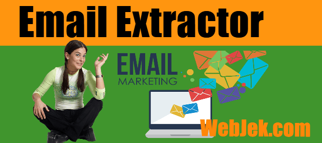 extract and collect keyword targeted emails using search engine